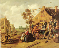 Jan Miense Molenaer - Peasants near a tavern