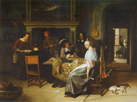 Jan Steen The Cardplayers
