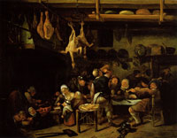 Jan Steen The Fat Kitchen