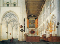 Pieter Saenredam - Interior view of the St. Laurenskerk, Alkmaar