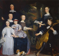 Abraham van den Tempel Portrait of David Leeuw and his Family