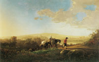 Aelbert Cuyp - Travelers in a Hilly Countryside