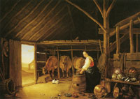 Aelbert Cuyp - Woman in a stable
