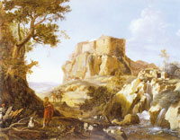 Bartholomeus Breenbergh Landscape with figures