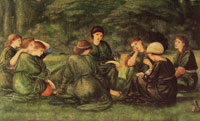 Edward Burne-Jones Green summer