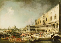 Canaletto The Reception of the French Ambassador Jacques-Vincent Languet, Comte de Gergy, at the Doge's Palace