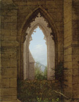 Carl Gustav Carus Gothic Windows in the Ruins of the Monastery at Oybin