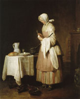 Jean-Siméon Chardin The Attentive Nurse