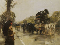 Childe Hassam April Showers, Champs Elysées, Paris