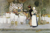 Childe Hassam At the Florist