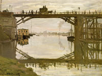 Claude Monet The highway bridge under repair, Argenteuil