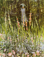 Claude Monet Camille Monet in the garden at Argenteuil