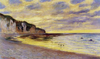 Claude Monet The Pointe de l'Ailly, low tide