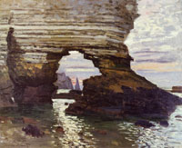 Claude Monet Rock Arch at Etretat