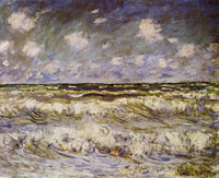 Claude Monet Rough sea, Normandy