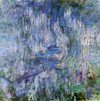 Claude Monet Water lilies, reflection of a weeping willow