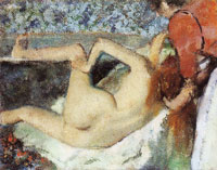 Edgar Degas After the bath, woman seen from behind