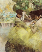 Edgar Degas - Dancers preparing for the ballet