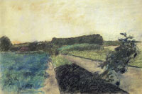 Edgar Degas Landscape in the Orne