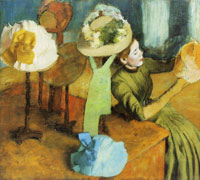 Edgar Degas The millinery shop
