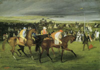 Edgar Degas At the races: The start