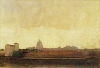 Edgar Degas View of Rome from the banks of the Tiber