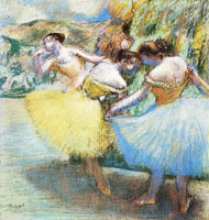 Edgar Degas Three dancers