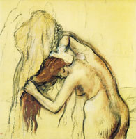 Edgar Degas Woman drying herself