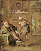 Frans Francken the Younger The rich man and death