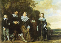 Frans Hals - Family in a landscape