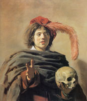 Frans Hals Young Man with Skull (Vanitas)
