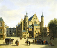 Gerrit Berckheyde The Binnenhof at The Hague