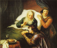 Govert Flinck Isaac blessing Jacob