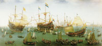 Hendrick Cornelisz. Vroom The Return to Amsterdam of the Second Expedition to the East Indies