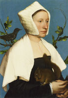 Hans Holbein the Younger A Lady with a Squirrel and a Starling