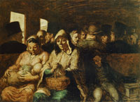 Honoré Daumier The Third-Class Carriage