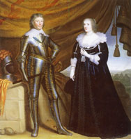 Gerrit van Honthorst Double Portrait of Frederik Hendrik and Amalia van Solms