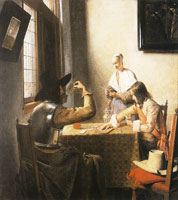 Pieter de Hooch Soldiers Playing Cards