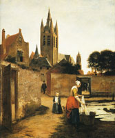 Pieter de Hooch A Woman and Child in a Bleaching Ground