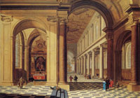 Gerard Houckgeest Interior of an imaginary catholic church in classical style