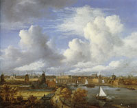 Jacob van Ruisdael Panoramic View of the Amstel Looking towards Amsterdam