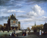 Jacob van Ruisdael Dam Square with Weigh House, Amsterdam