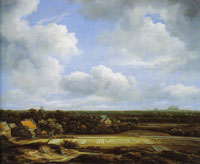Jacob van Ruisdael View of the Plain of Haarlem with Bleaching Grounds