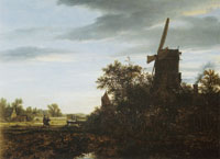 Jacob van Ruisdael A Windmill near Fields