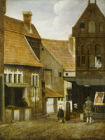 Jacob Vrel View in a Small Netherlandish Town