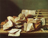 Jan Davidsz. de Heem - Still life with books
