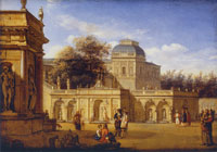 Jan van der Heyden - The Grounds of a Baroque Palace
