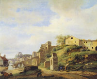 Jan van der Heyden View on the Tiber River, Rome