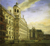 Jan van der Heyden The Town Hall of Amsterdam with the Dam