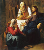 Johannes Vermeer Christ in the House of Mary and Martha